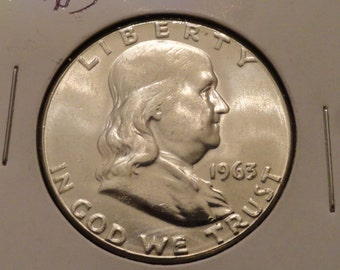 BU 1963-D Franklin SILVER Half Dollar- Last year of Mintage for the Franklin.