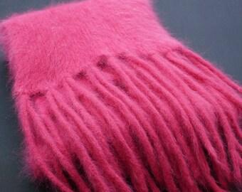 Rabbit Hair Scarf Pink Scarf Soft Scarf