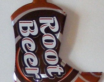 WESTERN BOOT Magnet - Root Beer Soda Can