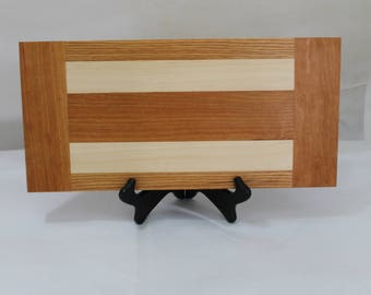 Cheese or Sushi Board Hardwood Maple, Cherry and Oak