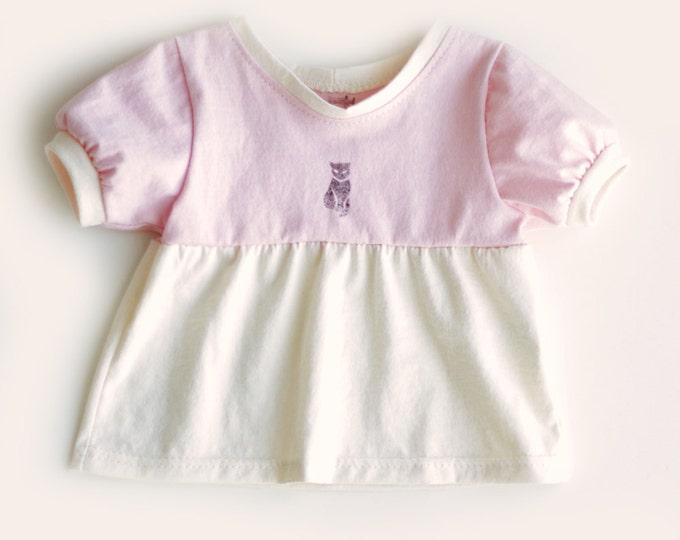 Organic Baby Tunic Top in Pink // Pink Baby Tunic // Pink Baby Top // Organic Baby Dress // Pink Baby Dress / Organic Baby Gift