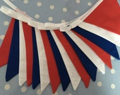 10 ftTraditional red,white & blue  bunting,banner,flag,wedding,garden party, party flag, childrens party ,baby shower