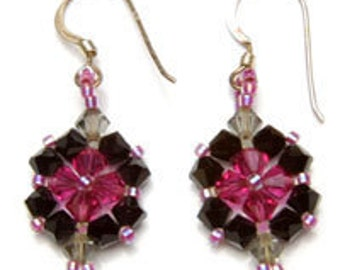 PDF File Tutorial for Crystal Beadwoven Earrings
