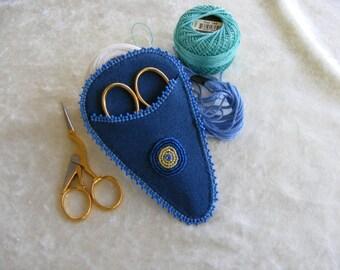 Evil Eye Embroidery scissors case