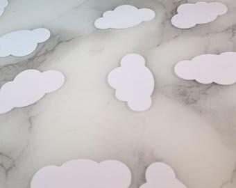 White clouds confetti 100 pieces