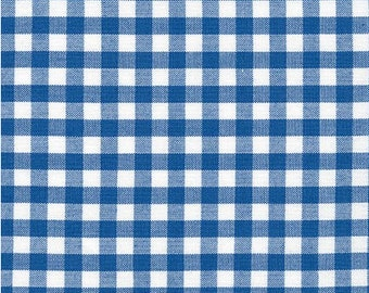 Gingham - Royal Blue 1/4 Inch Gingham from Robert Kaufman's Carolina Gingham Collection