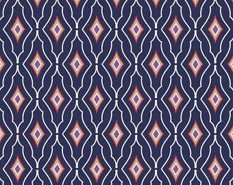 SHOP CLOSING SALE Paisley Please by Jackie Savage McFee for Camelot Fabrics Preppy Harlequin in Multi half yard
