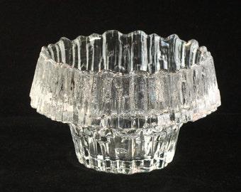 Iittala Finland STELLARIA Crystal Candle Holder Tapio Wirkkala