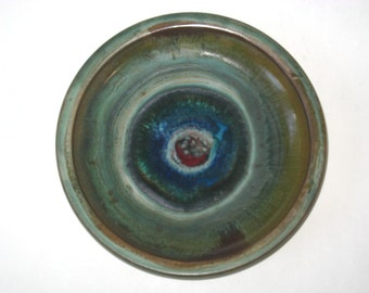 Jette Helleroe Denmark Art Pottery Dish - Signed Danish Modern Stoneware Bowl with Label