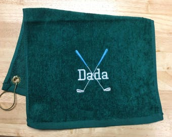 Personalized Golf towel, golf gift, golf favor, Golf Accessories, monogrammed golf towel, Embroidered golf towel, groomsmen golf party,