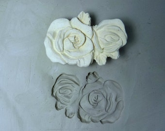 clay stamp - rose stamp - pottery tools -metal stamps -soap stamps -bisque stamps -ceramic stamps  - # 290