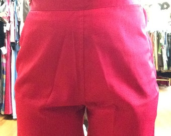 Radical Red 50's High Waist Shorts DEADSTOCK
