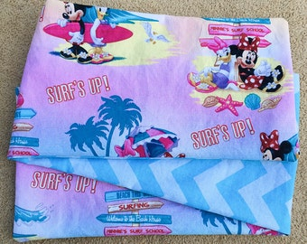 Surf's Up, Minnie, COTTON ***STAGE 2*** Children's G Tube Belly Band Wrap, (waist size 20-22 inches)