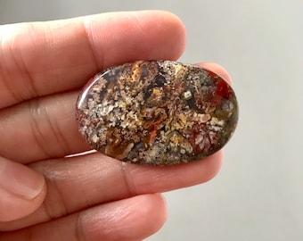 Beautiful Moss Agate Stone 37 x 24 mm