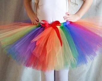 Rainbow Tutu, Birthday Party Tutu, Halloween Costume, Photo Shoot Tutu, Picture Tutu, Girls Rainbow Tutu Bright Colors, Multicolor Tutu
