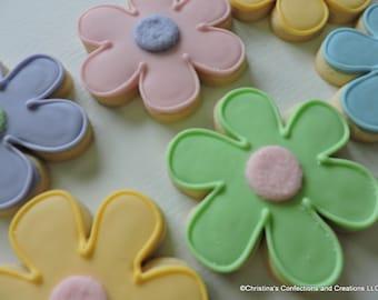 Simple Flower - Floral Cookies - (#2435)