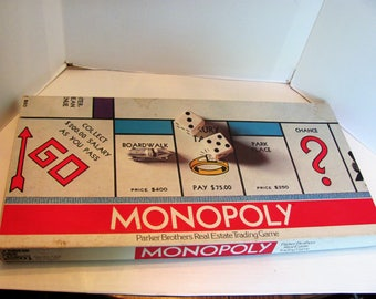 Monopoly Game from 1975 with all the Pieces