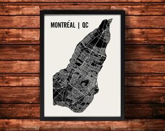 Montreal Map Artwork | Map of Montreal | Montreal Quebec Map | Montreal City Map | Montreal Poster | Montreal Wall Art Print