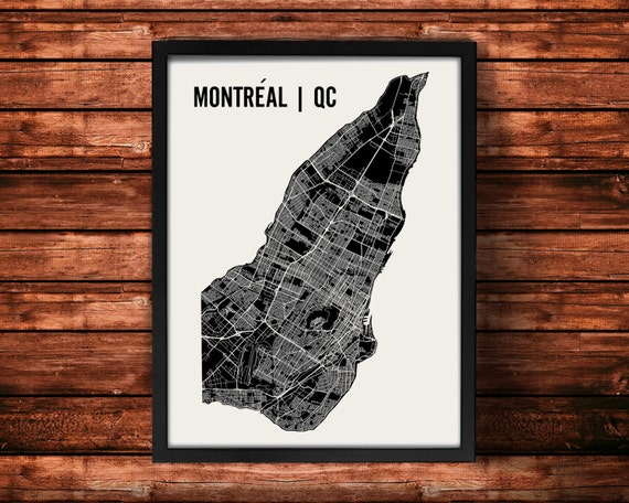 Montreal Map Art Print | Montreal Print | Montreal Art Print | Montreal Poster | Montreal Gift | Wall Art