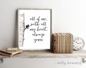 All of me,  Watercolor print, watercolor painting, Printable Art, Printable Watercolor, Instant Download