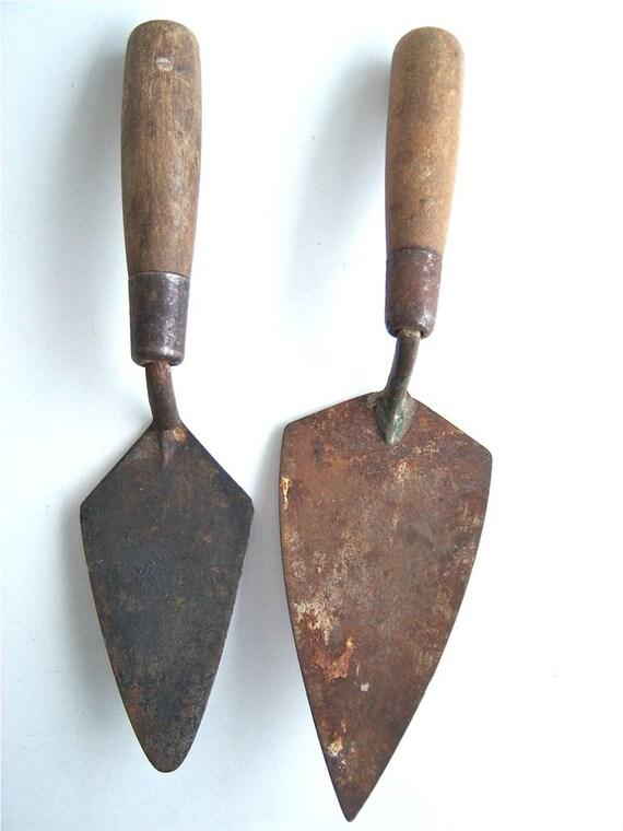 Thin Set Trowel : Old masonry trowel cement mortar set of