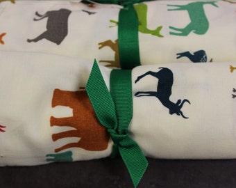 100% Organic Cotton Muslin Dream Blanket - Elk or Serengeti