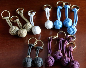 Monkey Fist Key chains with Brass Rings