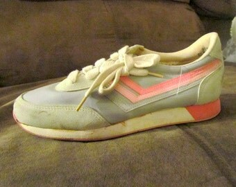 Retro ATHLETIC Pink Striped TENNIS SHOES