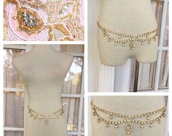 Athena Crystal Belt   Embellished Belt   Body Jewelry   Belly Dance Belt
