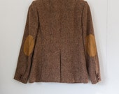 1970's wool brown blazer // size small // elbow patches
