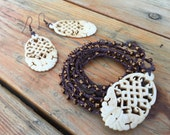 In the Detail: Versatile crocheted necklace / bracelet / belt / headband and matching earrings