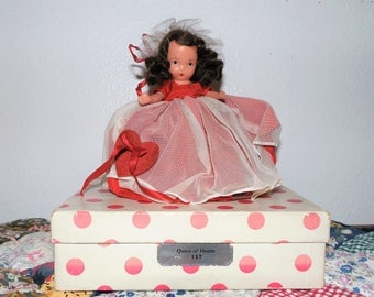 Queen of Hearts #157 ~ bisque Nancy Ann Storybook doll ~ NASB ~ 1940's ~ Story Book Series