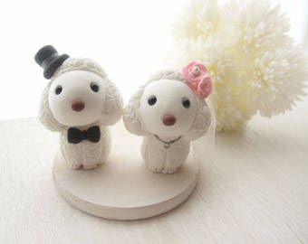Love Wedding Cake Toppers - Poodle with base