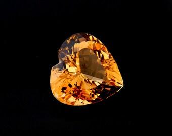 Citrine Designer Gemstone 19.6x20.1x12.1 mm 22.9 carats Free Shipping