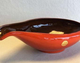 Frankoma Flame Glaze Sauce Pot
