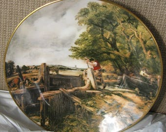John Contable Collector Plate - Coalport China, English Masterpieces, A Lock on the Stour