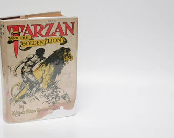 Tarzan and the Golden Lion by Edgar Rice Burroughs | Vintage Book | Vintage Novel | Tarzan Stories | (c. 1943) WWII Adventure Great Reads OH