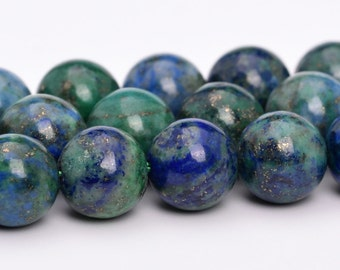 "4MM Azurite Beads Grade AAA Natural Gemstone Full Strand Round Loose Beads 15"" BULK LOT 1,3,5,10 and 50 (101112-807)"