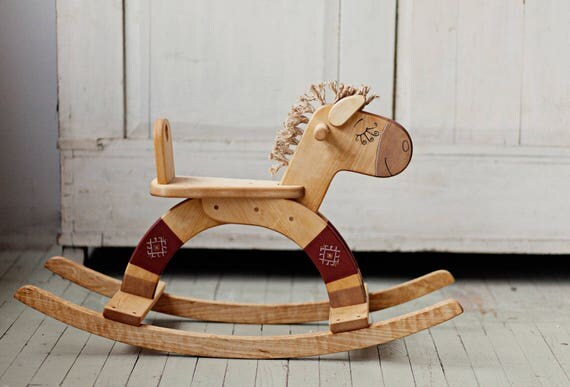 Wooden Rocking Horse, Wooden Rocking Toy