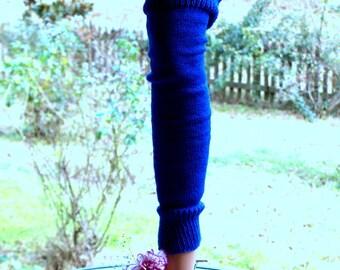 Plus Size Royal Blue Leg Warmers