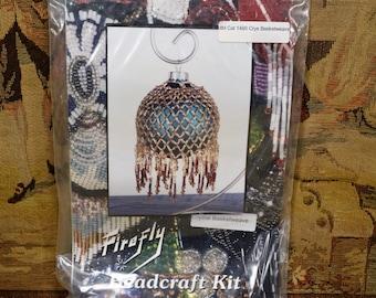 Firefly Art Deco Beadcraft Kit Crystal Basketweave Christmas Ornament Kit NEW