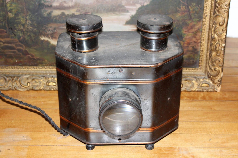 antique magic lantern slide viewer projector. Black Bedroom Furniture Sets. Home Design Ideas
