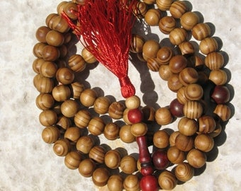 108 bead prayer mala burlywood beads special price monk's mala