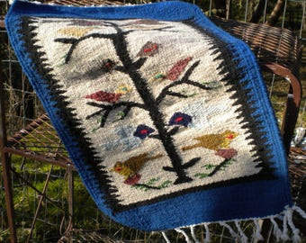 Native American Tree of Life Rug Weaving Birds Tree