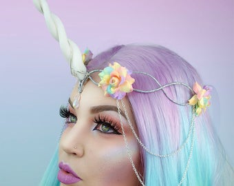 Rainbow Unicorn Crown