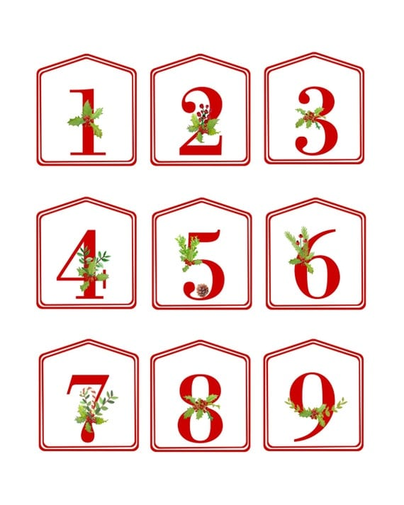It is a picture of Geeky Printable Christmas Numbers