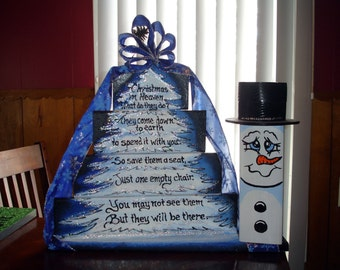 Christmas in Heaven display sign with snowman