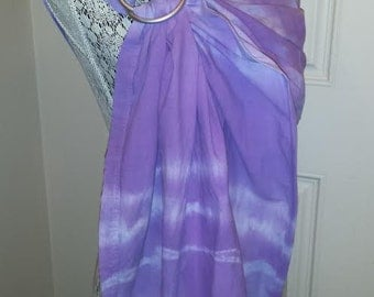 Purple Tie Dyed Ring Sling, OOAK, hand dyed, SALE