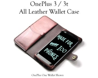 OnePlus 3 / 3t Leather Wallet Case / oneplus 3t case / oneplus wallet case /
