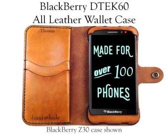 BlackBerry DTEK60 (or Alcatel Idol 4s) Leather Wallet Case / leather phone case / phone case wallet / DTEK60 case / BlackBerry Case